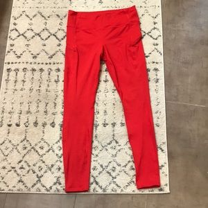 Athleta tights in hibiscus red